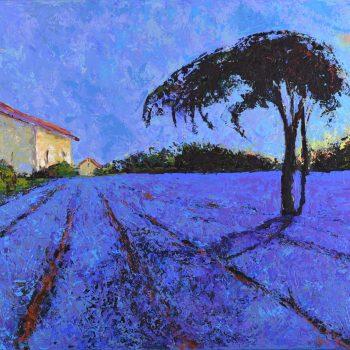 Západ nad Provence - Vladimir Domničev - acrylic painting