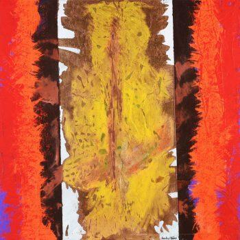 Zlatý strom - Ladislav Hodný - combined painting