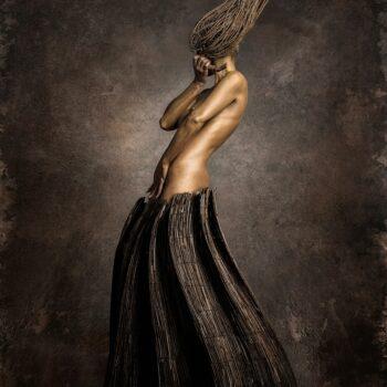 AKT1 (žena v rákose) - Fedor Nemec - combined photography