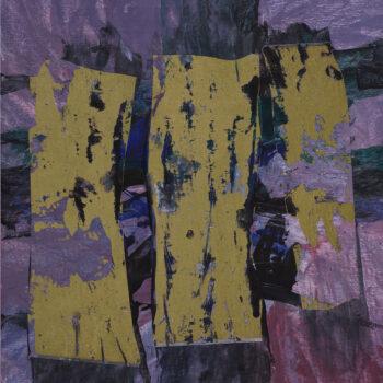 Fialová abstrakce - Ladislav Hodný - combined painting