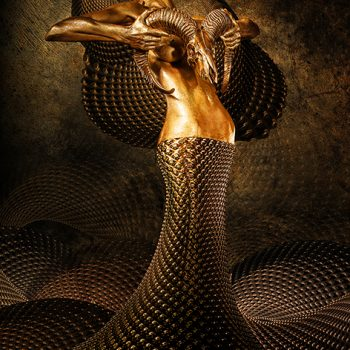 Gold angel - Fedor Nemec - combined photography