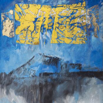 Himalaya - Ladislav Hodný - combined painting