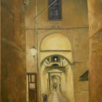 Italienische Gasse - Peter Klonowski - oil painting