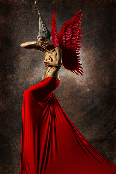 Red angel - Fedor Nemec - combined photography