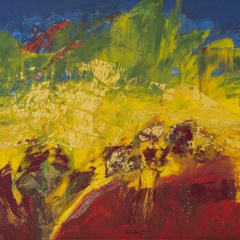 Trúbenie na ústup - Ladislav Hodný - combined painting