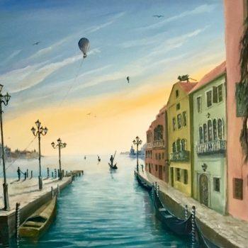 Venedig - magisch und mystisch - Peter Klonowski - oil painting