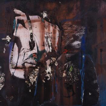 Vlčí nora - Ladislav Hodný - combined painting