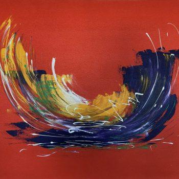 Abstrakt in Orange - Klaus Thurner - acrylic painting