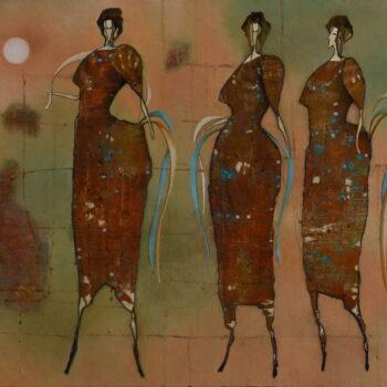 Bál - Norbert Judt - combined painting