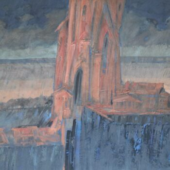 Czerwona świątynia - Wit Pichurski - acrylic painting