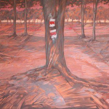 Czerwony szlak - Wit Pichurski - acrylic painting