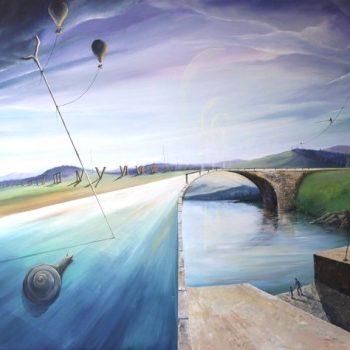 Die Zeit vergeht auf unterschiedlicher Weise - Peter Klonowski - oil painting