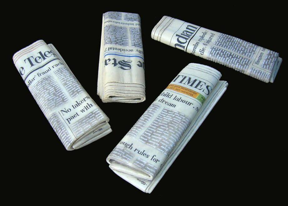 Folded newspaper - Kanta Kishore Moharana - statue