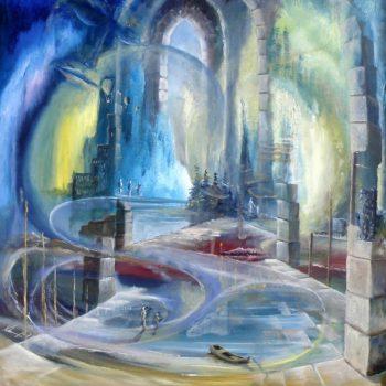 Gebrochene Räume - Peter Klonowski - oil painting