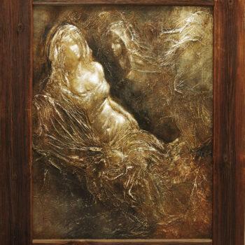 Hérine jablko - Cyril Uhnák - combined painting