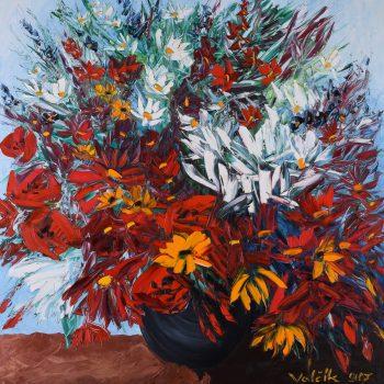 Jarní kytice - Josef Valčík - acrylic painting