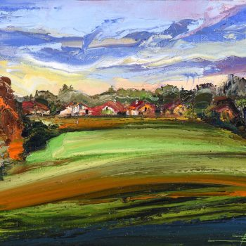 Krajinka - Mykola Bodnar - oil painting
