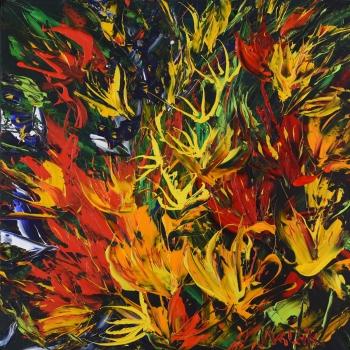 Kytice segment - Josef Valčík - acrylic painting