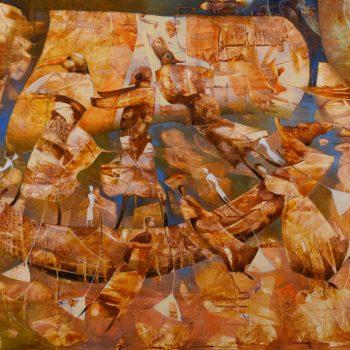 Loď nebies - Norbert Judt - combined painting