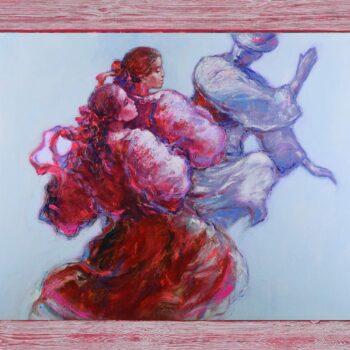 Odzemok - Cyril Uhnák - oil painting