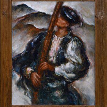 Ozývaj sa hora - Cyril Uhnák - oil painting
