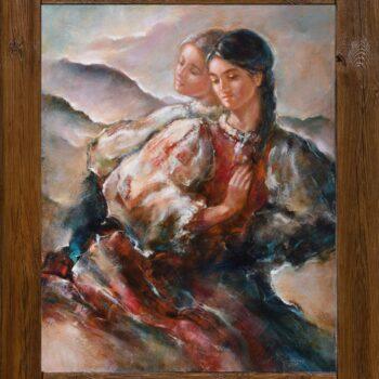 Poď leto - Cyril Uhnák - oil painting