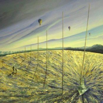 Schwebender Planet - Peter Klonowski - oil painting
