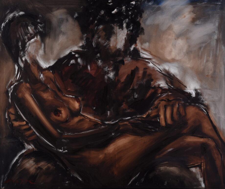 Slávka v Tiborovom lone - Zoltán Enzoe Nagy - oil painting