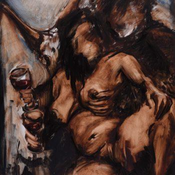 Tibor Huszár & Vierka - Zoltán Enzoe Nagy - oil painting