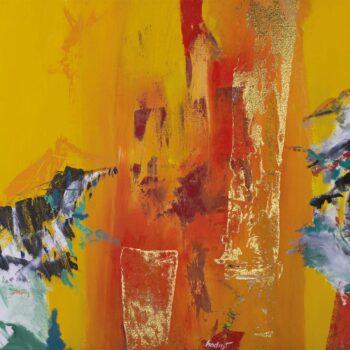 Verzus - Ladislav Hodný - combined painting