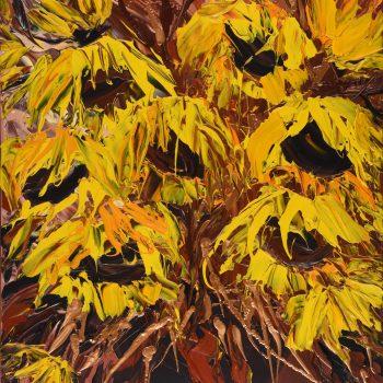 Zlaté slunečnice - Josef Valčík - acrylic painting