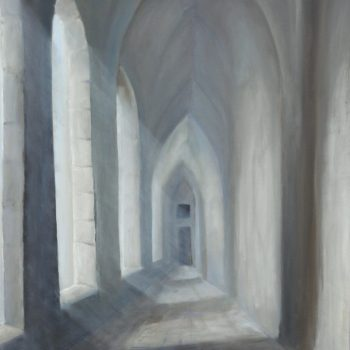Der alte Gang im Kloster - Peter Klonowski - oil painting