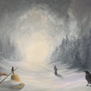 Die Botschaft des Druiden ist verhalt - Peter Klonowski - oil painting