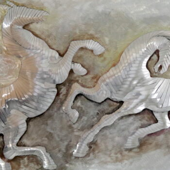 Biele kone - Ivan Patúc - relief