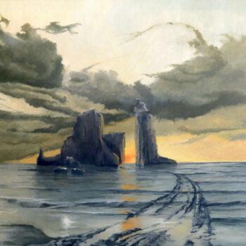 End of the road - Václav K. Killer - oil painting