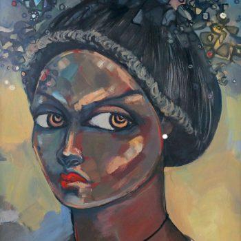 Expectation 1 - Solomon Teshome Jenbere - acrylic painting