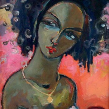 Expectation 3 - Solomon Teshome Jenbere - acrylic painting