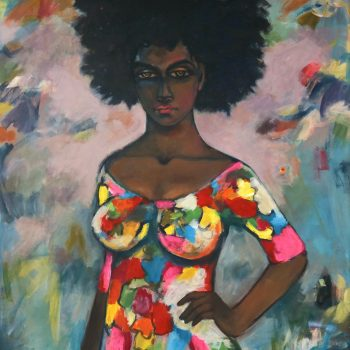 Fashion show 2 - Solomon Teshome Jenbere - acrylic painting