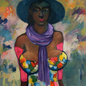 Fashion show 3 - Solomon Teshome Jenbere - acrylic painting
