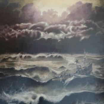 Galeona v bouři - Václav K. Killer - oil painting