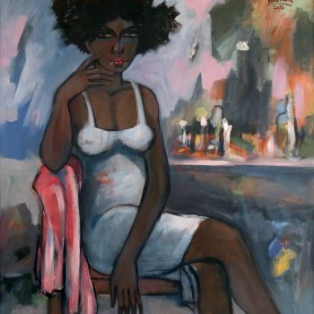 Looking for 6 - Solomon Teshome Jenbere - acrylic painting