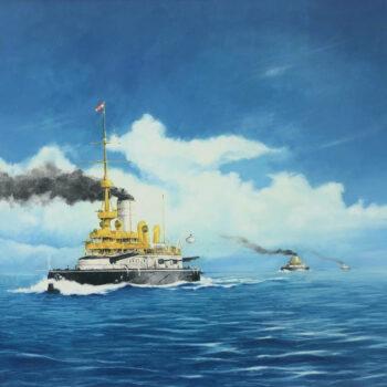 SMS Budapest - Václav K. Killer - oil painting
