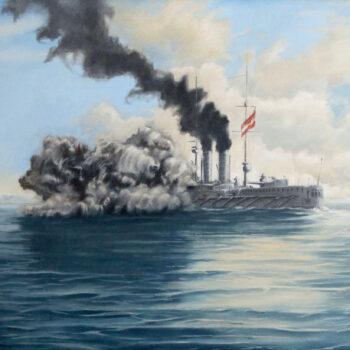 SMS Radetzky - Václav K. Killer - oil painting