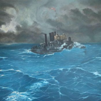 SMS Turul - Václav K. Killer - oil painting
