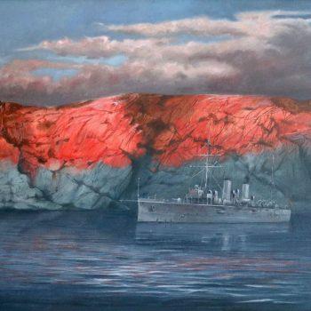 SMS Zenta - Václav K. Killer - oil painting