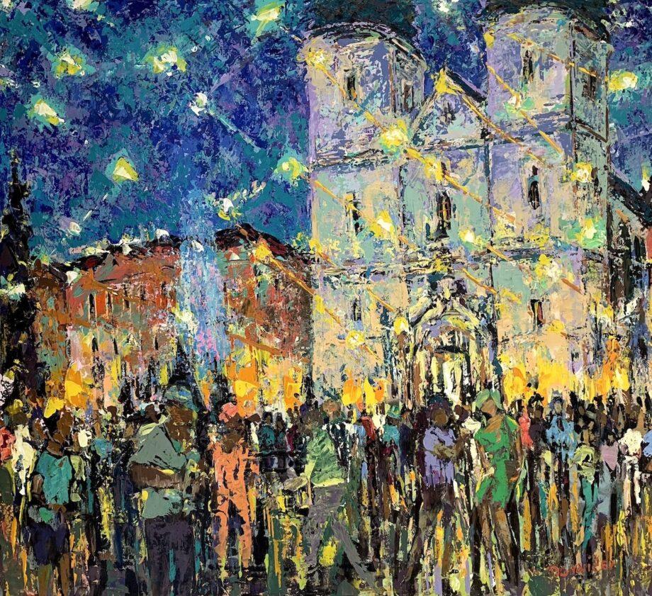 Kadaňské slavnosti - Vladimir Domničev - acrylic painting