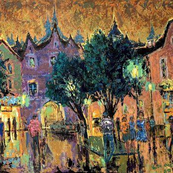 Každý večer ve stejný čas - Vladimir Domničev - acrylic painting