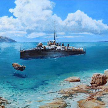 SMS Velebit - Václav K. Killer - oil painting